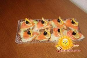 Праздничные бутерброды «Кораблики»