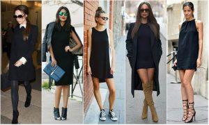 С чем носить черное платье?