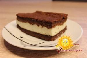 Шоколадные пирожные с молочным кремом-суфле