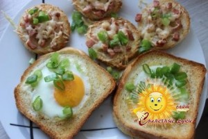 Тост с яйцом