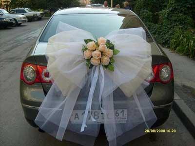 Свадебное украшение машин своими руками