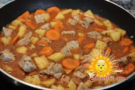 рецепт жаркое или соус из свинины и картофеля