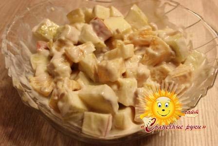 Фруктовый салат Фруктовый салат с йогуртом Салат из фруктов