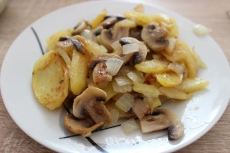 жареная картошка с свежими опятами рецепт с фото