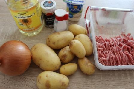 Запеканка картофельная с мясным фаршем